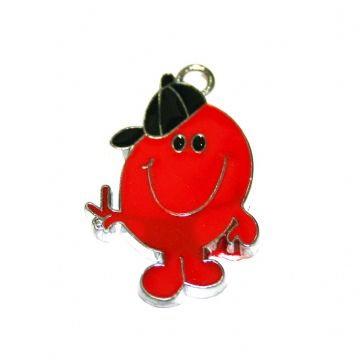 1pce x 30*25mm Red Mr.  enamel charms - S.D03 - CHE1044